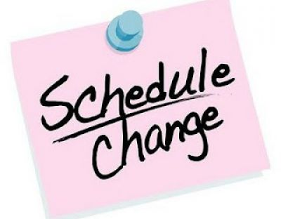 CHANGES TO SCHEDULE – Beginning Oct. 12th