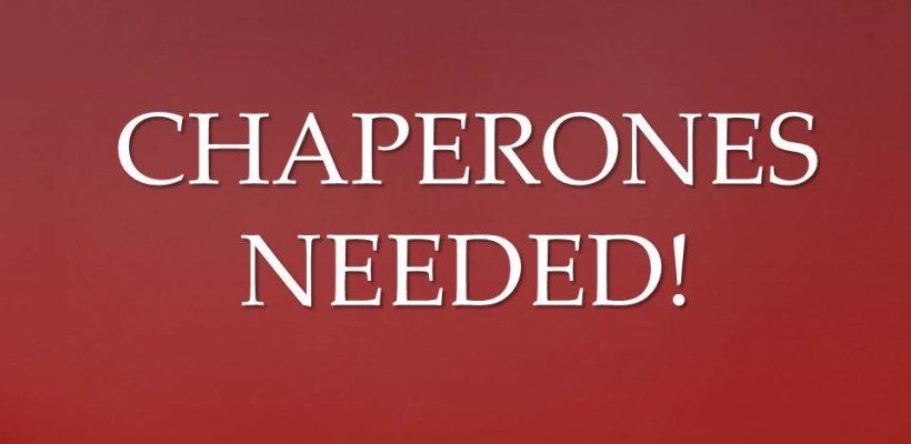 CALL FOR CHAPERONES